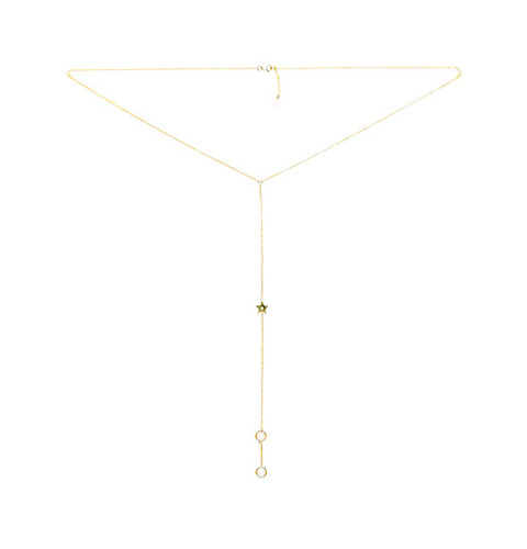 ┃GOLD PHILOSOTHY┃ STAR LARIAT NECKLACEIN GOLD