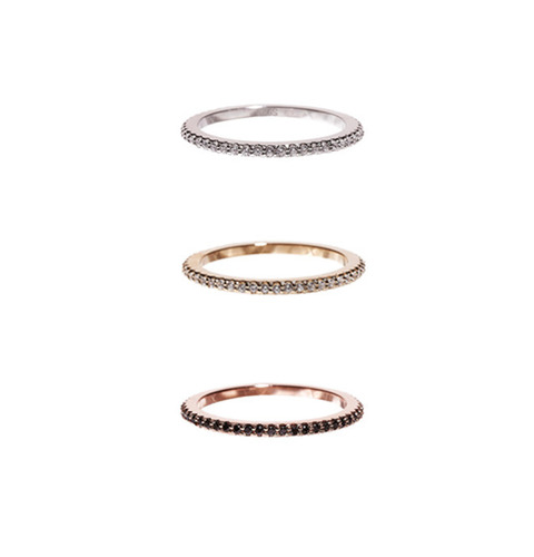 ┃GOLD PHILOSOTHY┃ ETERNITY BAND RINGIN 3 COLORS