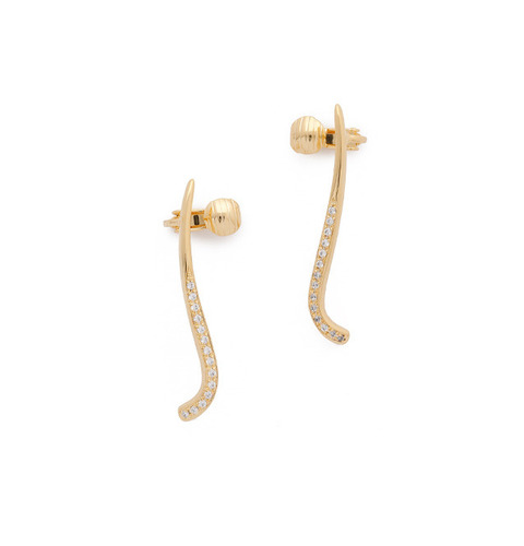 ┃GOLD PHILOSOTHY┃ CRESCENT EAR CUFFIN GOLD
