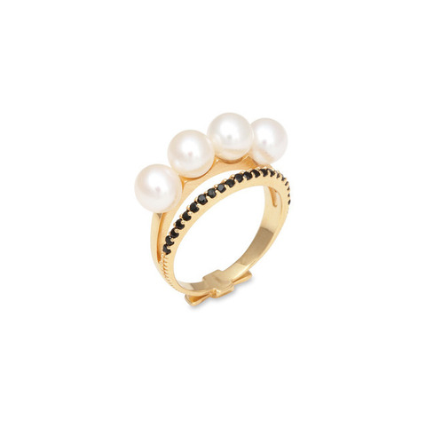 ┃GOLD PHILOSOTHY┃LAYERED PEARL LARGE RINGIN GOLD