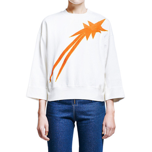 [KAREN WALKER]INTERCOSMOS SWEATSHIRTIN ORANGE