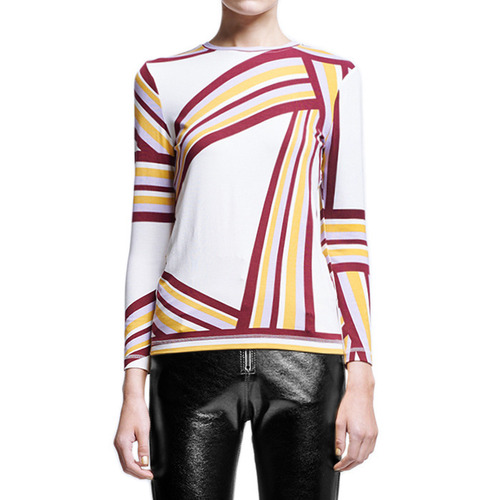 [KAREN WALKER]CALLISTO LONG SLEEVE TOPIN OFF WHITE MULTI