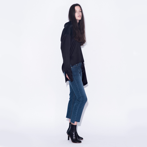 ┃HACER SEOUL┃ 16 FALL FRAY UNBALANCE DENIMblue/black denim