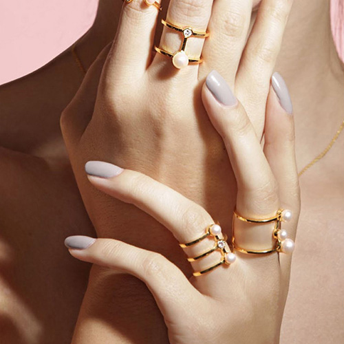 │GOLD PHILOSOPHY│TWIN COIL RINGGOLD