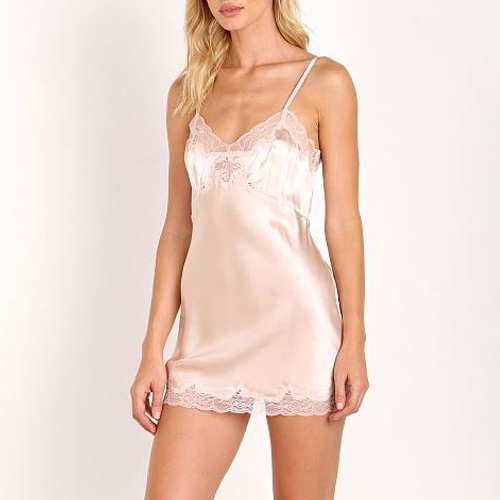 ┃ONLY HEARTS┃ SILK CHARMEUSE MINI SLIP nudie