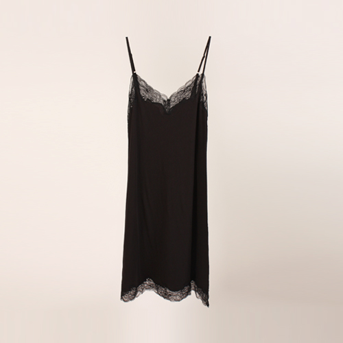 ┃ONLY HEARTS┃ LUXE LACE ORGANIC COTTON CHEMISE black