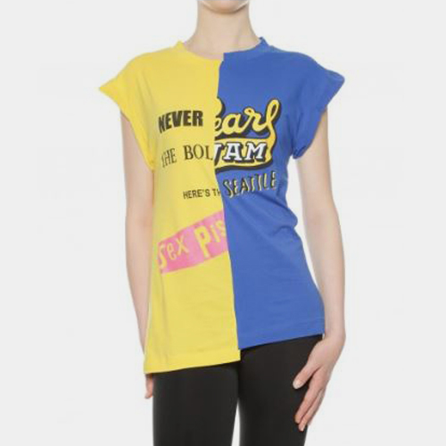 ┃SEMICOUTURE┃ JOHN T-SHIRTblue+yellow