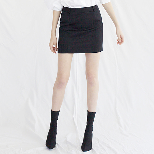 ┃HACER SEOUL┃ 17 FALL MINI SKIRTblack stripe