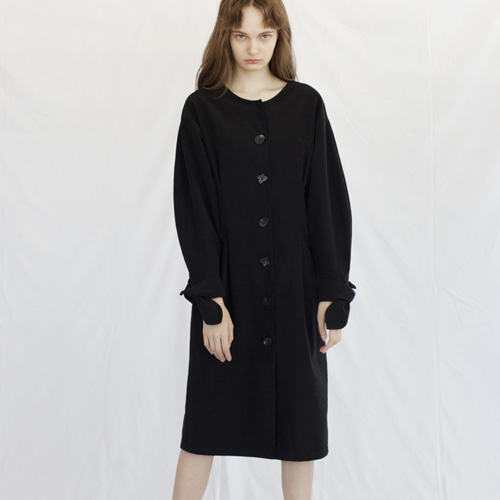 ┃HACER SEOUL┃ 17 FALL ROUND SLEEVE DRESSblack