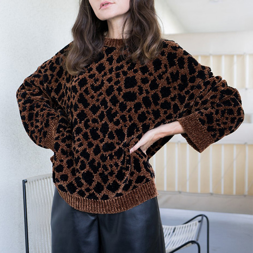 ┃NANUSHKA┃ TEDDY TEDDY KNIT SWEATER ocelot