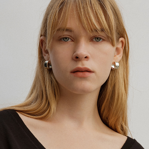 ┃NINETEEN TWO┃ FLAT EARRINGsilver, gold