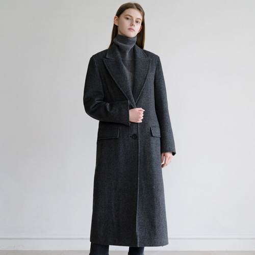 ┃HACER SEOUL┃ 17 WINTER LONG GLEN CHECK COATgrey