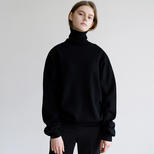 ┃HACER SEOUL┃ 17 WINTER HIGH NECK PUFF SLEEVE KNITblack