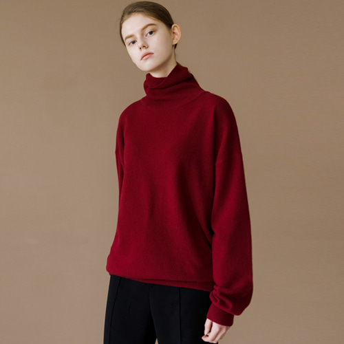 ┃HACER SEOUL┃ 17 WINTER HIGH NECK PUFF SLEEVE KNITwine