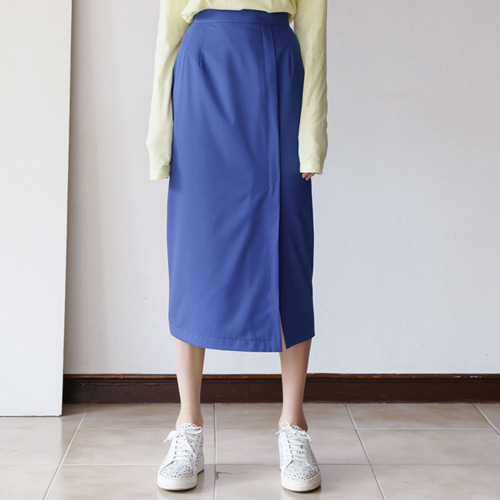 ┃MORE H.┃ 18 SPRING H-LINE SKIRTblack,blue