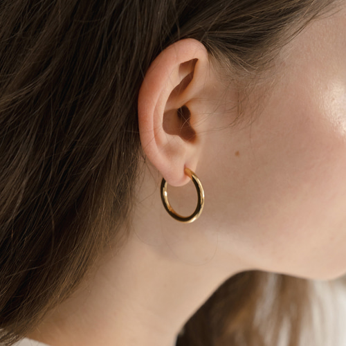 ┃NINETEEN TWO┃ RING EARRING (M)silver,gold