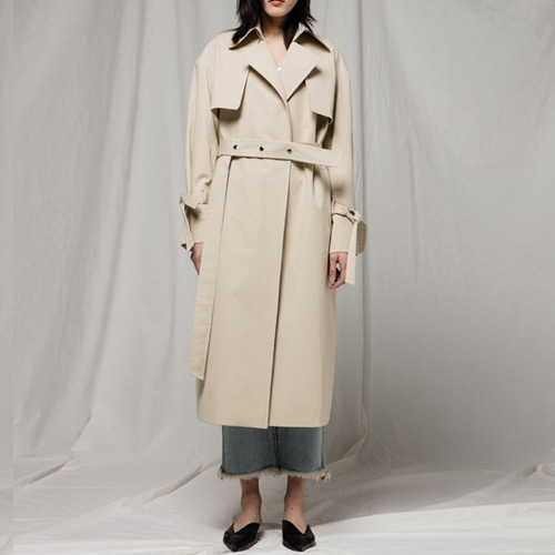 ┃JO5┃ OPEN TRENCH COATbeige