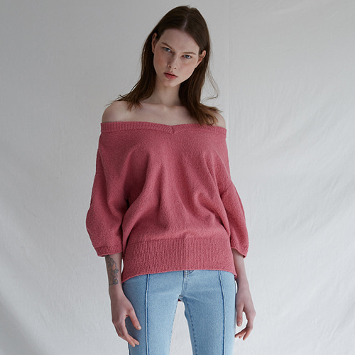 ┃MAISON MARAIS┃ V-NECK BLOOM KNIT 3color