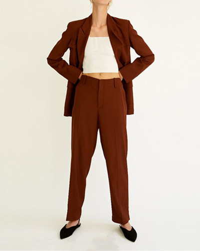 LES COYOTES filippa trousers  retro brown