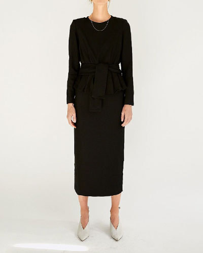 LES COYOTES raey dress  black