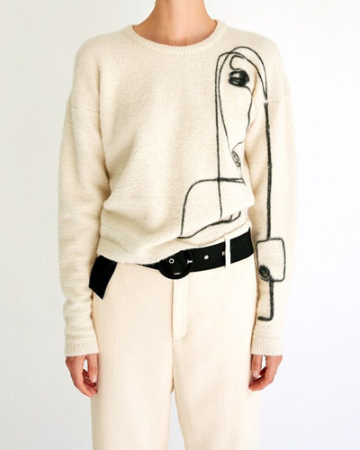 LES COYOTES lois pullover  offwhite