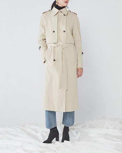 JO5 raglan trench coat beige