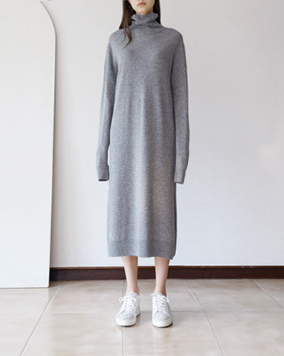 ┃MORE H.┃ 18 SPRING LONG KNIT DRESS3color