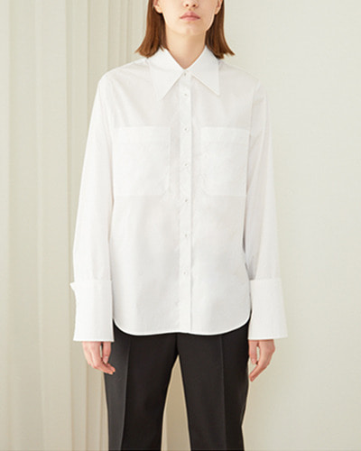 ┃HACER SEOUL┃ 18 SPRING COTTON COLLAR SHIRTSwhite
