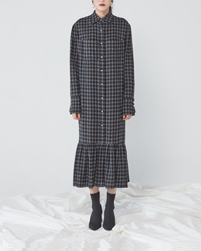 JO5 maxi shirt dress  gingham check