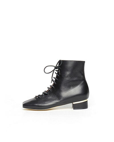 LANE.910 lh1-sb001 square laceup boots black