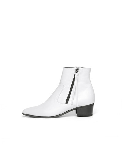 LANE.910 lh1-sb004 pointed zip boots white